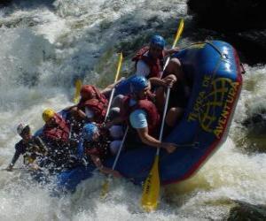 Puzzle de Rafting o descenso de ríos