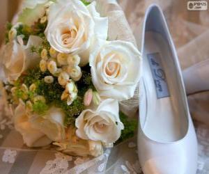 Puzzle de Ramo y zapato para la novia
