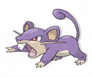 Puzzle de Rattata - Pokémon tipo Normal, rata atacante veloz