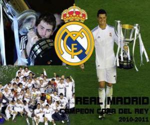 Puzzle de Real Madrid campeón Copa del Rey 2010-2011