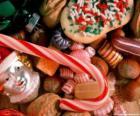 Golosinas variadas - Caramelos, bastoncitos de caramelo