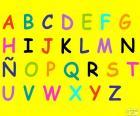 Abecedario con letras mayúsculas