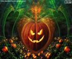Calabaza típica Halloween