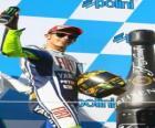 Valentino Rossi en el pódium