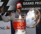 Lewis Hamilton en el pódium
