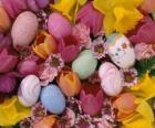 Conejitos con huevos de Pascua