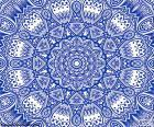 Mandala flor azul