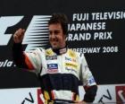 Fernando Alonso en el pódium