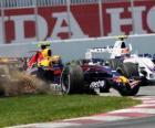 Mark Webber pilotando su F1
