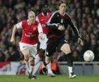 Fernando Torres chutando el balón