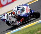 Jorge Lorenzo pilotando su moto GP