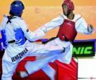 Karate - Dos karatecas practicando