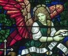 Vitral con un ángel