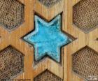 Estrella de color turquesa de cerámica