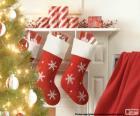 Calcetines navidad chimenea