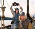 Tjure a punto de romper un jarrón en la cabeza de Snorre