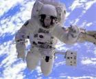Astronauta misión espacial