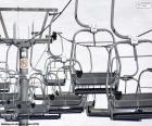 Telesilla de una estación de ski alpino