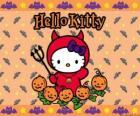 Hello Kitty disfrazada en Halloween