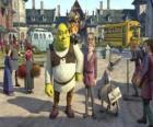 Shrek junto a Arturo posible sucesor al trono