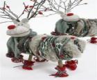 Bonitos muñecos de renos navideños
