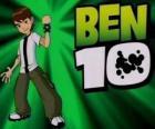 Ben 10 con el Omnitrix y el logo de Ben 10