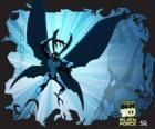 Big Chill o Frío como una polilla alienígena de fuerza sobrehumana, con alas y antenas que puede llegar a ser invisible