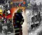 Varias imagenes de bomberos