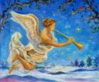 Ángel tocando una trompeta