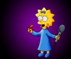 La pequeña Maggie preparada para cantar