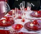 Mesa preparada para el día de Navidad