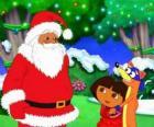 Dora y el Zorro el villano junto a Papá Noel