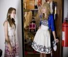 Hannah Montana (Miley Cyrus) con su amiga Lily