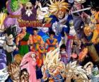 Varios personajes de Bolas de Dragón