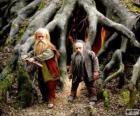 Trumpkin y Nikabrik dos habitantes de Narnia