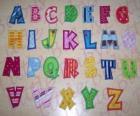 Letras mayúsculas, abecedario