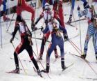 El biatlón en un deporte de invierno que consiste en combinar el esquí de fondo con el tiro al blanco.