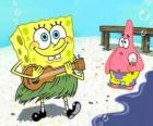 Bob Esponja en hawaii