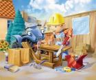 Bob trabajando de carpintero
