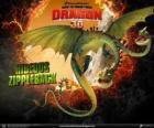 Horrible Zippleback, con dos cabezas, es el dragón más grande y uno de los más peligrosos
