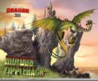 Los dragones Horrible Zippelback provocan explosiones, mientras una cabeza emite gas, la otra lo enciende