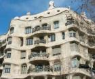 Obras de Antoni Gaudí. La Pedrera o la Casa Milà de Gaudí, Barcelona, España.