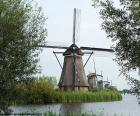 Red de molinos de Kinderdijk-Elshout, Países Bajos, Holanda.