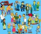 Varios personajes de Los Simpson