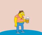 Barney Gumble cliente habitual del bar de Moe