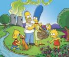 La família Simpson en un dia picnic