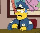 Clancy Wiggum o Clancy Gorgory - Jefe Wiggum o jefe Gorgory en su despacho