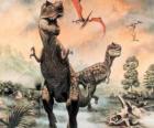 Dinosaurios y pterodactylus