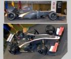 Vista lateral y aérea del HRT F1