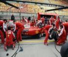 Ferrari entrenando un pit stop, Shanghai, 2010